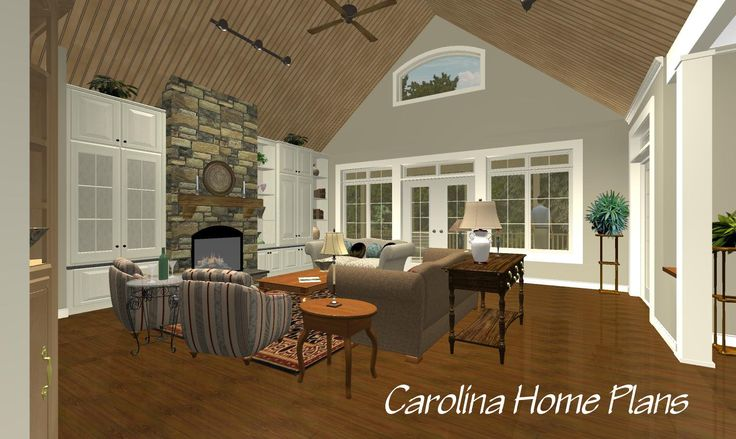 This craftsman style open floor plan also features an in for Craftsman style open floor plans