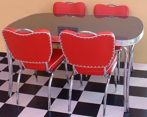 Modern 'vintage' 50s diner set - table n chairs - from 'Wotever'