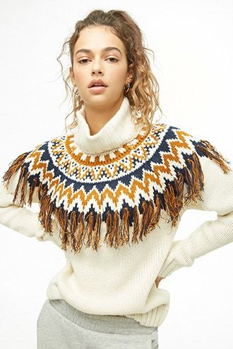 414f687893 Tasseled Turtleneck Sweater
