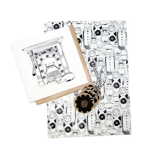 Image of Hey Doll Face - Bumber Gift Wrap Pack  Russian doll, matryoshka doll