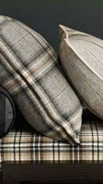 """Very sporty pillow accent. """"LOVE this plaid!"""""""