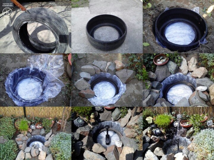 Diy small garden fountain garden fountains pinterest for Small garden pond with fountain