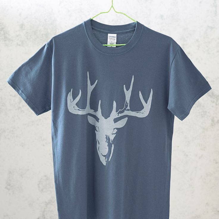 Stag t-shirt by print and repeat | notonthehighstreet.com