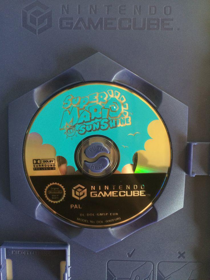 Super Mario Sunshine game disc.