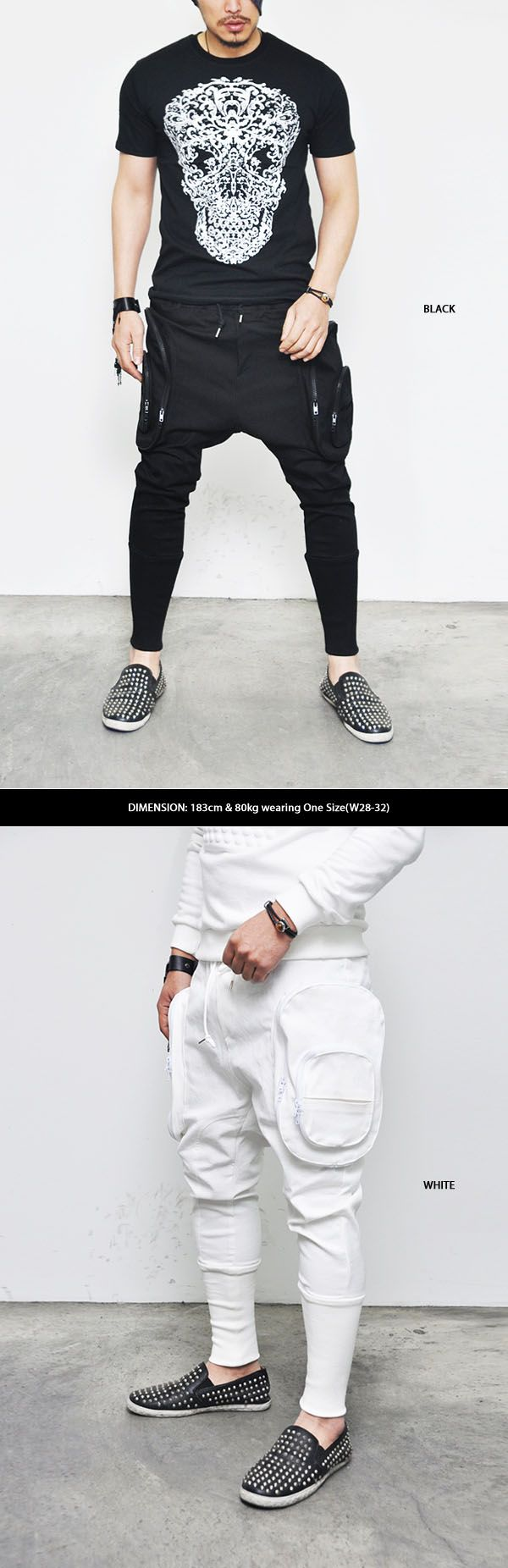 Bottoms :: Sweatpants :: Re) Oversized Double Zip Cargo Baggy-Sweatpants 102 - Mens Fashion Clothing For An Attractive Guy Look