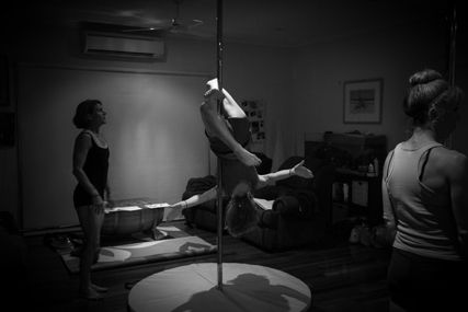 Readying for Pole Fitness