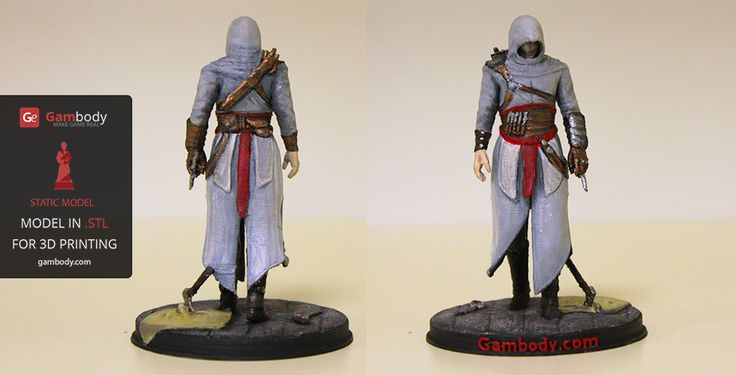 Painted Assassin Creed 3D printing figurine