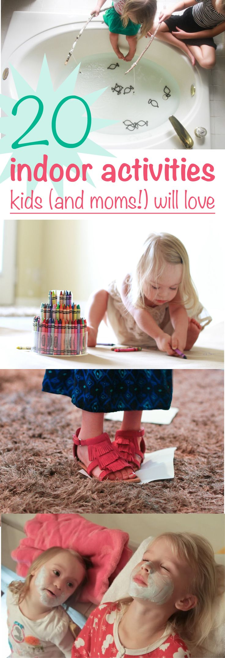 20 indoor activities for these cold winter days the kids will love, and you will too! http://www.ehow.com/ehow-mom/blog/20-indoor-activities-kids-and-moms-will-love-no-gadgets-required/?utm_source=pinterest.com&utm_medium=referral&utm_content=blog&utm_campaign=fanpage