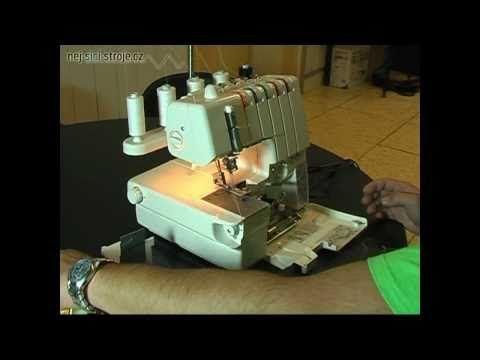 šicí stroj Merrylock 3000 CL overlock i coverlock v jednom, šicí stroje - YouTube návod na výměnu z over na cover