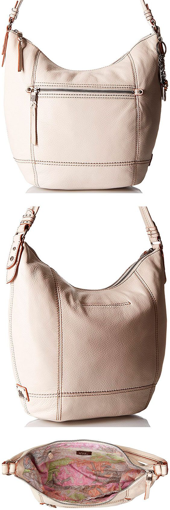 The Sak Sequoia Hobo Bag – Best Large Leather Hobo Shoulder Bag The Sequoia lives up to its namesake and comes in at a relatively large, inexpensive shoulder bag. With 11 styles to choose from, the right person will love the oversized design. #TheSAK #Leather #Baguette #Handbag #Hobo #ShoulderBag #Bag #White #Biege