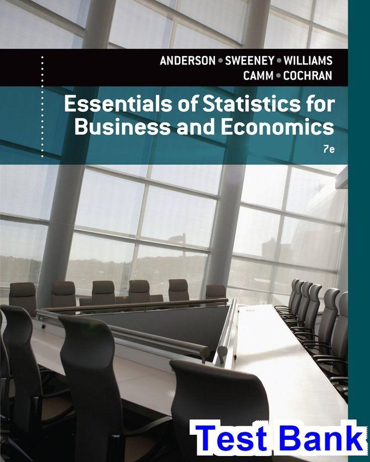 50 best test bank download images on pinterest essentials statistics business economics 7th edition anderson test fandeluxe Images