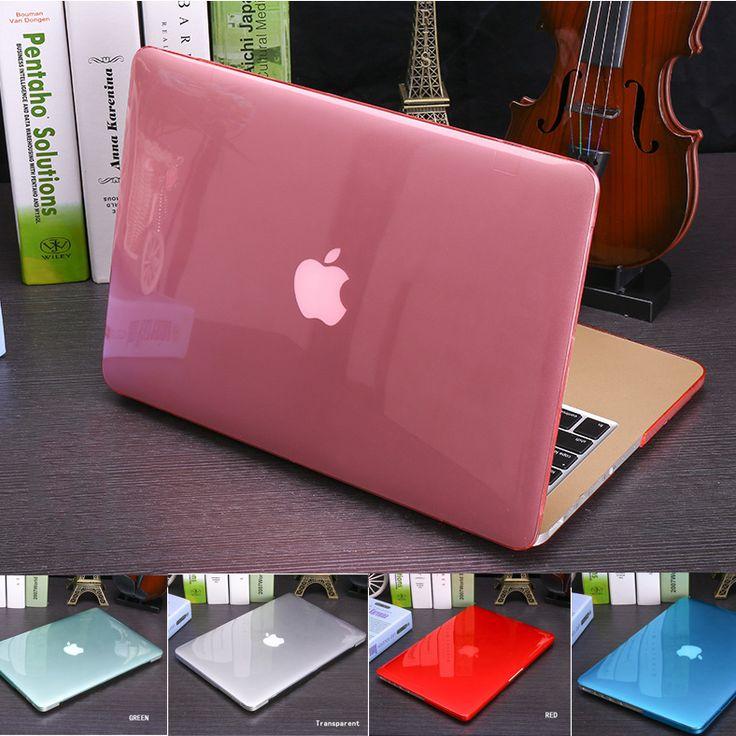 Nuevo cristal \ caja transparente mate para apple macbook air pro retina 11 12 13 15 bolso del ordenador portátil para macbook air 13 funda + regalo