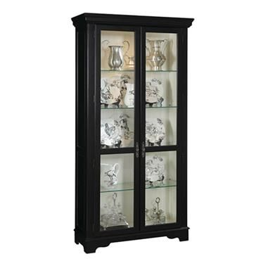 Madison Black Wood Gl Metal Curio Cabinet By Ski Furniture