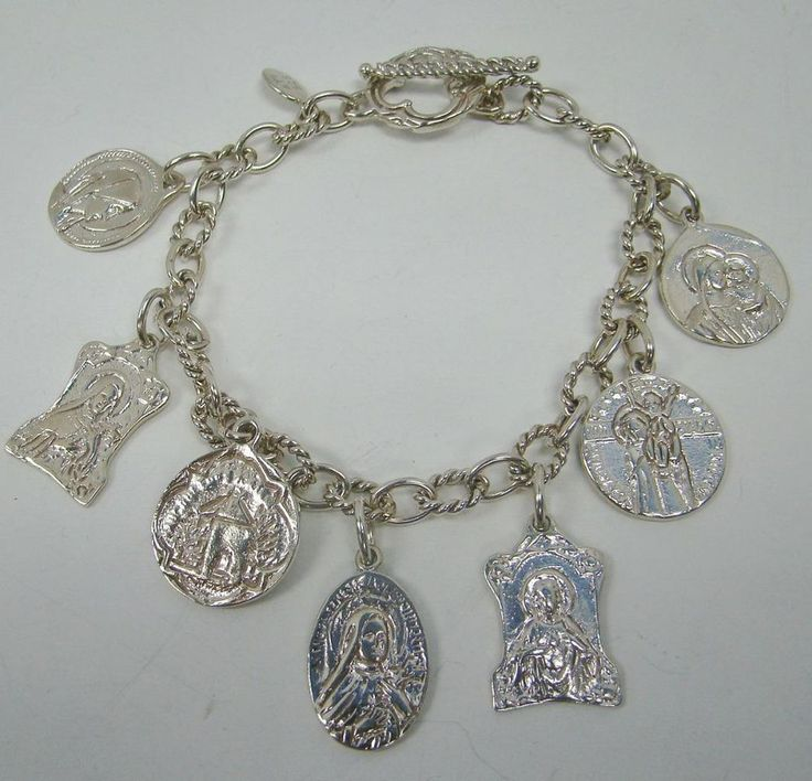 Religious Charm Bracelet: 108 Best 925 STERLING SILVER BRACELETS Images On Pinterest