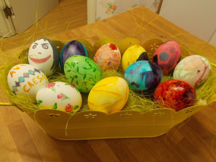 Painted boiled eggs