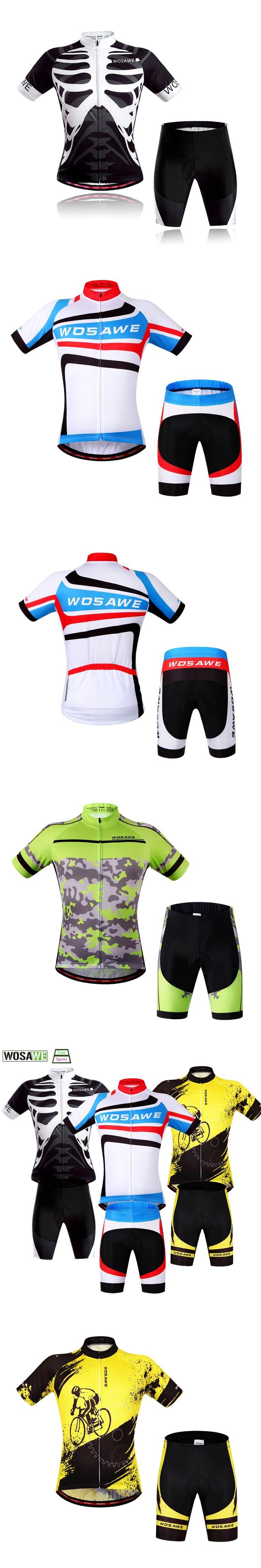 WOSAWE Cycling Clothing Quick Drying Cycling Jersey Set MTB Bike Mountain Shirt Shorts Riding Team Bicycle Motocross Cloth