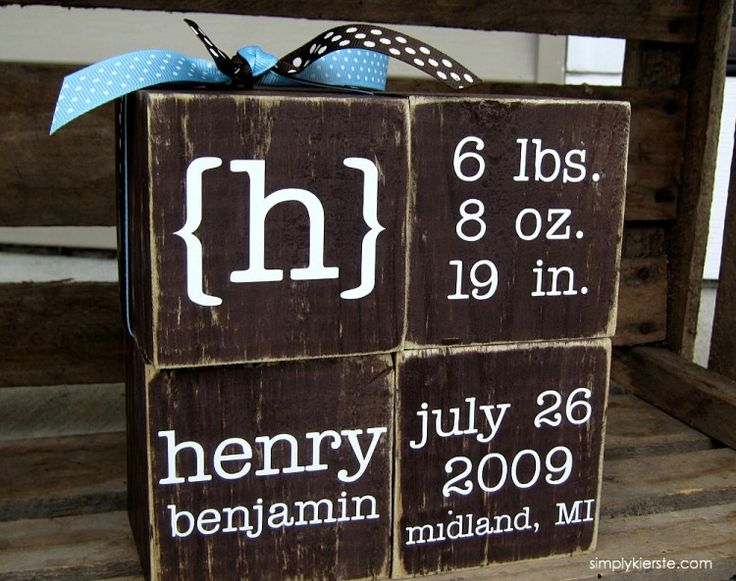 Best 25 wood block crafts ideas on pinterest holiday wood personalized baby blocks negle Image collections