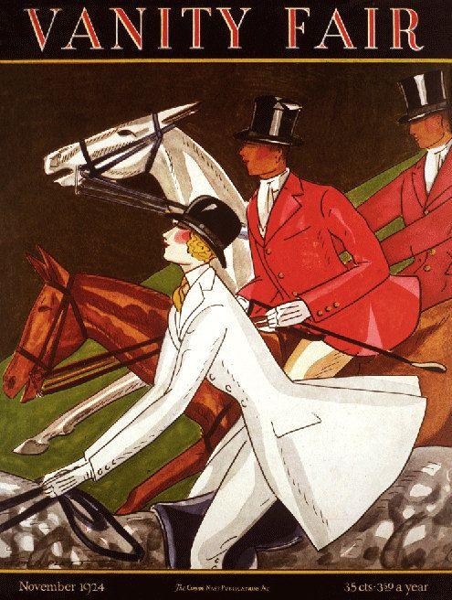 1924 Vanity Fair magazine cover-fox hunters, fox hunting poster, Art Deco horses SALE on Etsy, $24.99