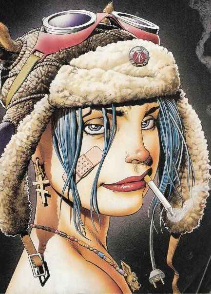 Tank Girl - Jamie Hewlett bonetech3d #bonetech3d followback #followback
