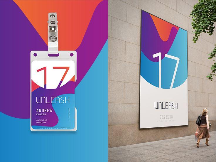 Unleash Mockups Popular Dribbble Shots Conference Branding Conference Logo Badge Design