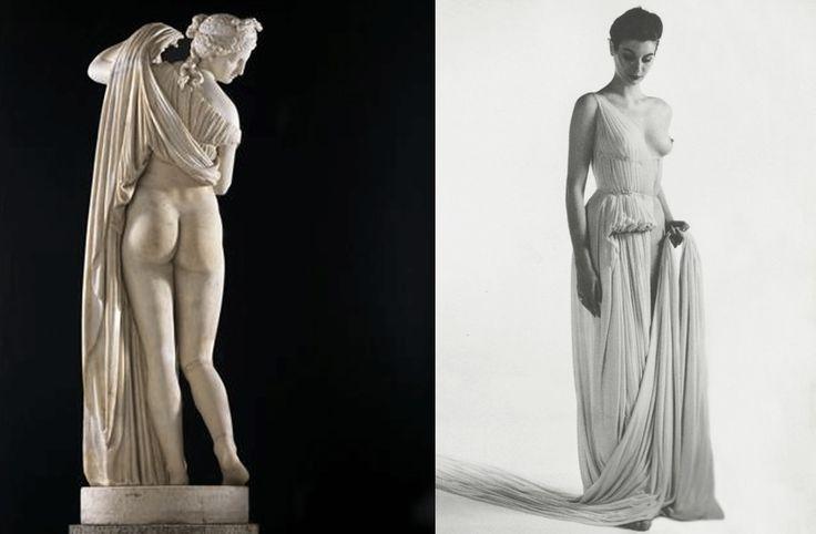 """Venus kallipigia"" statue and Madame Grès dress"