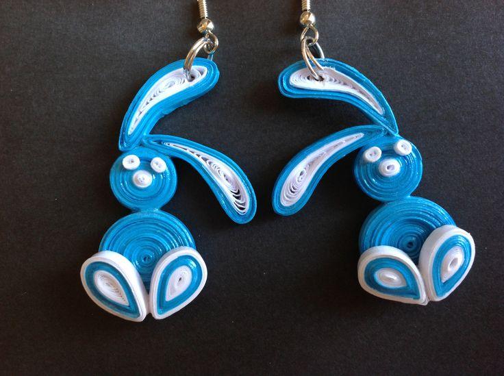 Paper bunny earrings