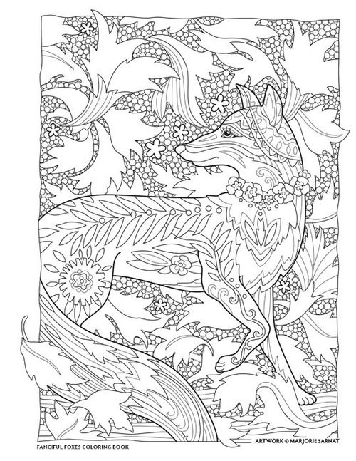 Falling Leaves Fanciful Foxes Coloring Book I Marjorie Sarnat