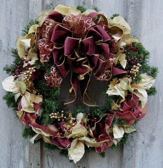 Christmas Wreath, Holiday Wreath, Elegant Décor, Designer ...
