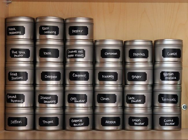 DIY Spice Organization » Table for Two -love the stacking visibility plus arent completely in the light!