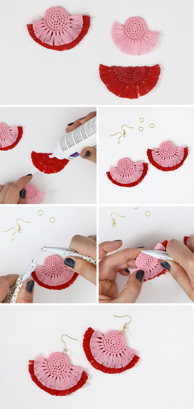 best 25+ diy earrings crochet ideas on pinterest | diy crochet
