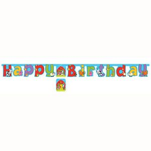56 - Barnyard Bash Jointed Banner Barnyard Bash Jointed Banner, Large with Stickers - Each