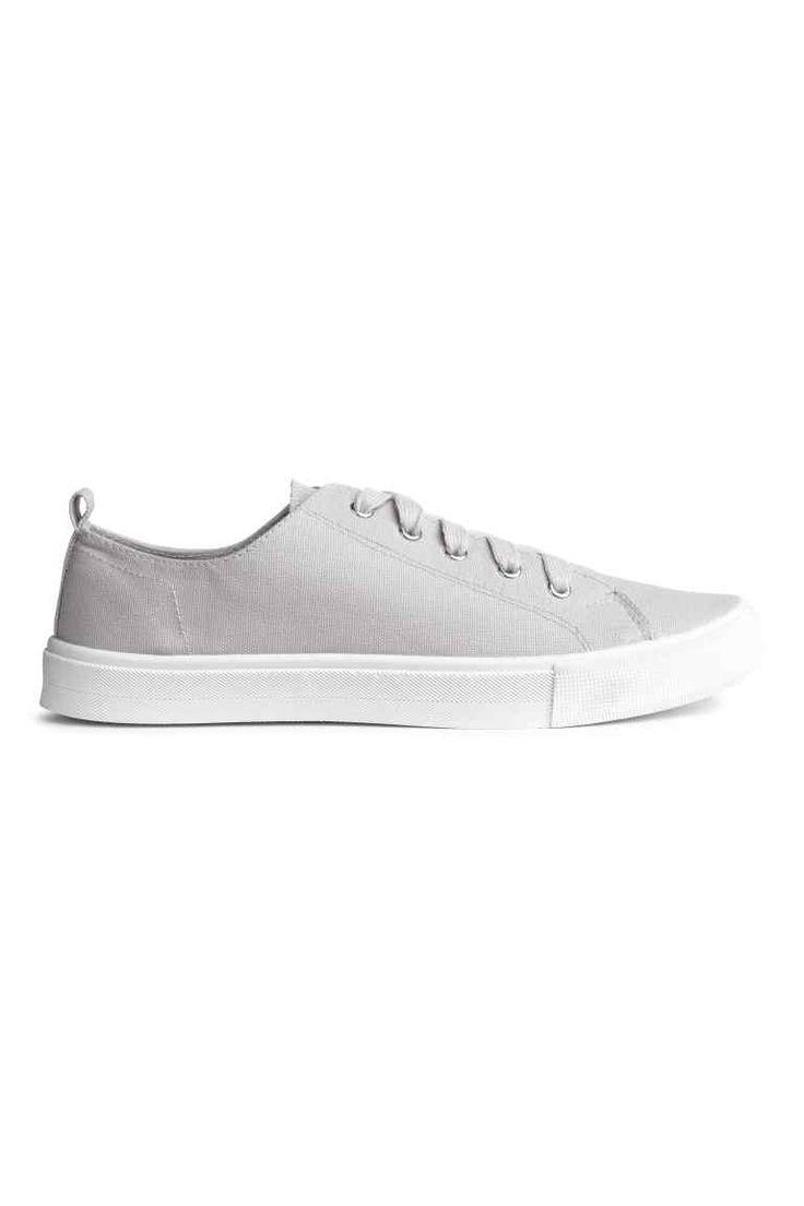 Sneakers in twill - Grigio chiaro - DONNA | H&M IT 1
