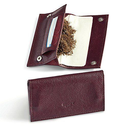 Egoist JK06036 Porte tabac/Blague à tabac en vrai cuir Soirée - Bordeaux