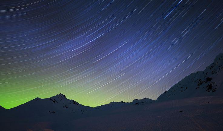 Aurora Star Trail by Justin Frazier / 500px