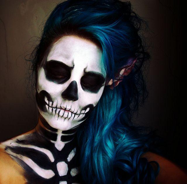 Halloween party makeup.