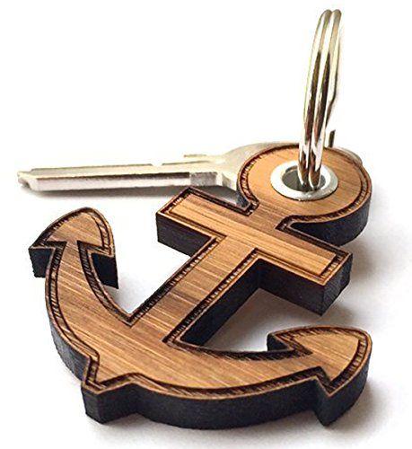 Wunderschöner Anker- Schlüsselanhänger aus Holz. #dark #beauty