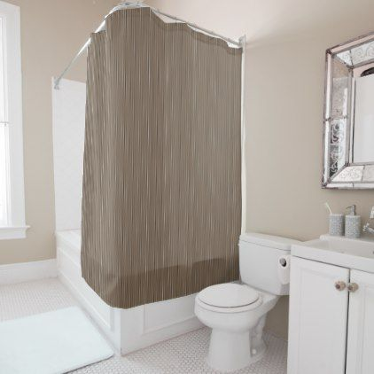 Cocoa Pinstripe Shower Curtain - home gifts ideas decor special unique custom individual customized individualized
