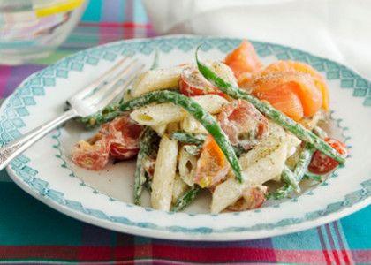Krämig pasta med kallrökt lax | MåBra - Nyttiga recept