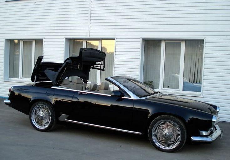 Volga cabriolet est, elle, basée sur une BMW Série 6 et dotée d'un V8 !