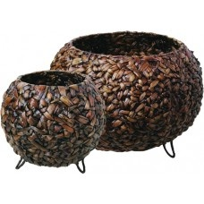 Baskets Round - Set of Two - Water Hyacinth £129.99