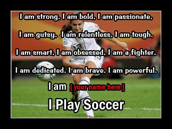 The 25 best alex morgan quotes ideas on pinterest morgan soccer personalized i play soccer photo quote poster by arleyartemporium soccermotivation voltagebd Image collections