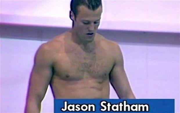 OMG, I had no idea!  Jason Statham's diving at 1990 Commonwealth Games
