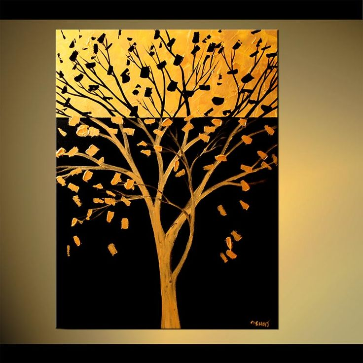 paintings of trees | ... Abstract Art - Modern Art and Landscape Paintings by Osnat Tzadok