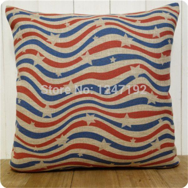 Ретро красочные волна ретро белье чехол старинные наволочки звезда волна полоса подушка чехол украшения дома
