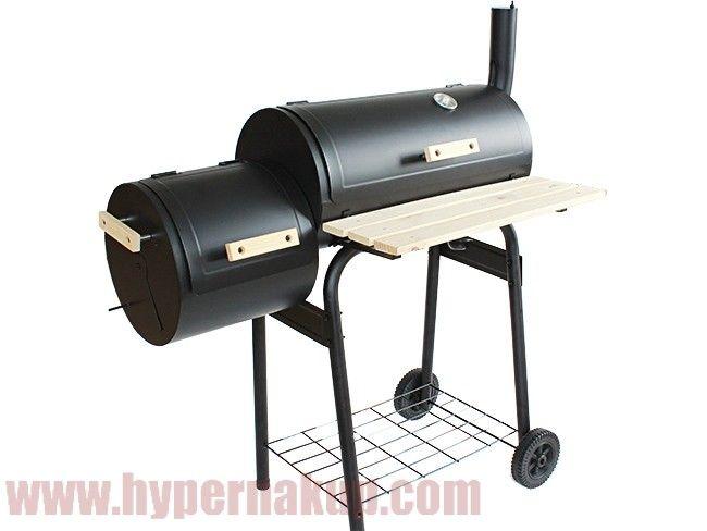 Záhradný gril na drevené uhlie s údiarňou BBQ