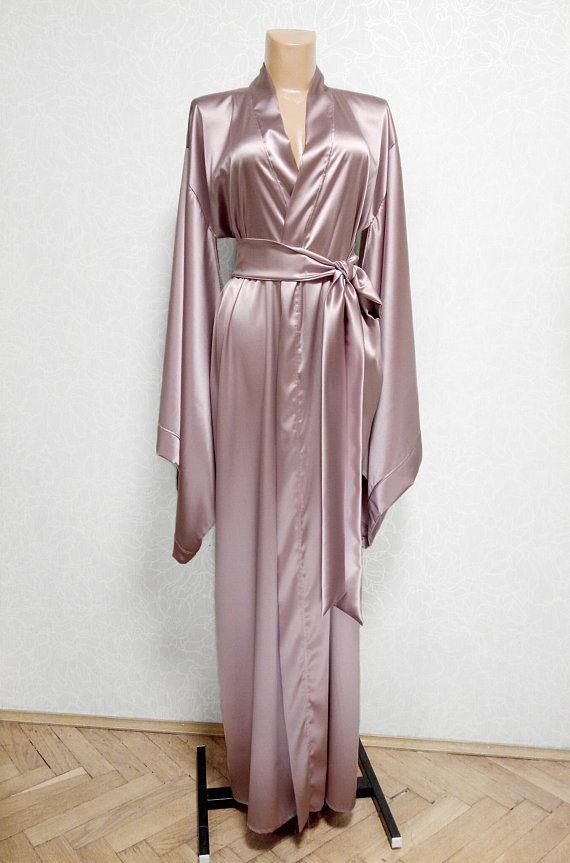 b5eaeb015a23c Silk Robe many colors Silk kimono robe 100% Pure Natural