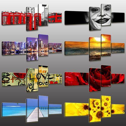 17 migliori immagini su Quadri moderni 4 pezzi su ...