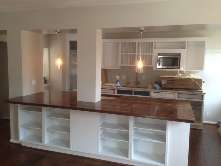 Furniture: Modern Kitchen Design With Exciting Kitchen Island And Waterlox  Countertop Finishes Plus Pendant Lighting