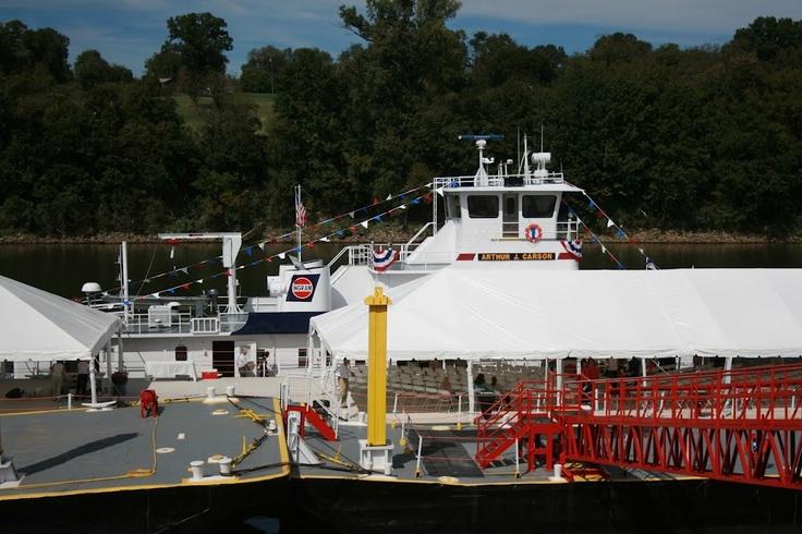 Preparations for the towboat christening,  Nashville, September 2010