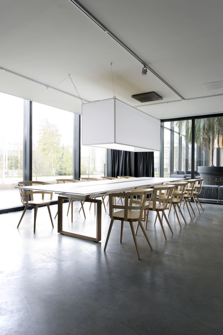 In-tensive table (design Jouni Leino) and Julie chair (design Julie Tolvanen)